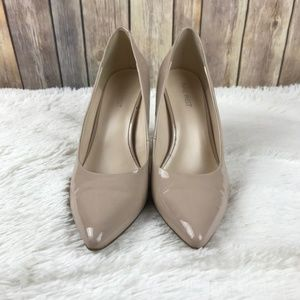 Nine West- Classic Nude Pointed Toe Pump Heels- 10